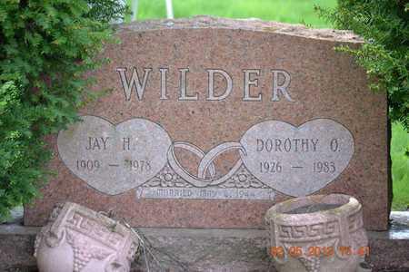 WILDER, DOROTHY O. - Branch County, Michigan   DOROTHY O. WILDER - Michigan Gravestone Photos