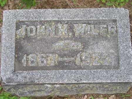WILER, JOHN H. - Branch County, Michigan | JOHN H. WILER - Michigan Gravestone Photos