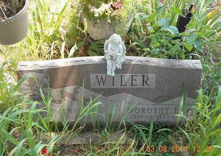 WILER, DOROTHY E. - Branch County, Michigan | DOROTHY E. WILER - Michigan Gravestone Photos