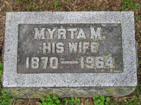 WILER, MYRTA M. - Branch County, Michigan | MYRTA M. WILER - Michigan Gravestone Photos