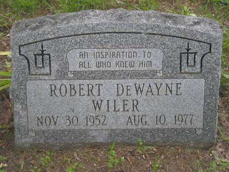 WILER, ROBERT DEWAYNE - Branch County, Michigan | ROBERT DEWAYNE WILER - Michigan Gravestone Photos