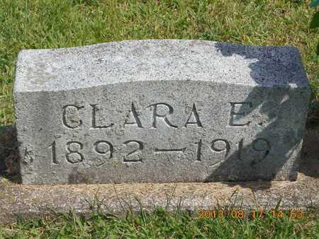 WILLIAMS, CLARA E. - Branch County, Michigan   CLARA E. WILLIAMS - Michigan Gravestone Photos