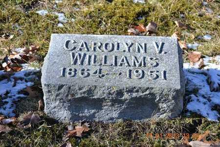 WILLIAMS, CAROLINE V. - Branch County, Michigan | CAROLINE V. WILLIAMS - Michigan Gravestone Photos
