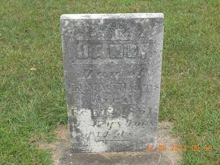 WILLIAMS, JANE - Branch County, Michigan | JANE WILLIAMS - Michigan Gravestone Photos