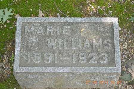 WILLIAMS, MARIE - Branch County, Michigan | MARIE WILLIAMS - Michigan Gravestone Photos