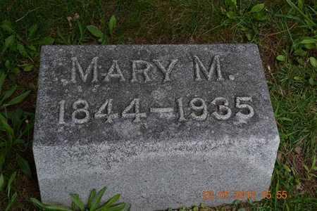 WILLIAMS, MARY M. - Branch County, Michigan | MARY M. WILLIAMS - Michigan Gravestone Photos