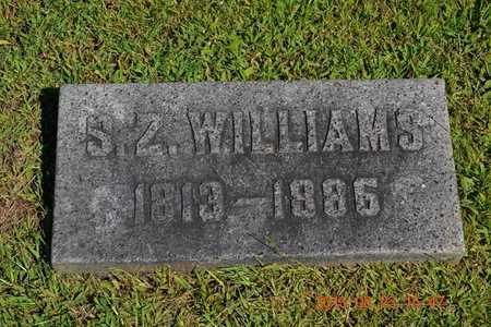 WILLIAMS, S.Z. - Branch County, Michigan | S.Z. WILLIAMS - Michigan Gravestone Photos