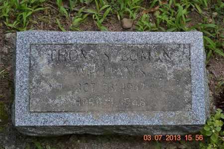 WILLIAMS, THOMAS EDMAN - Branch County, Michigan | THOMAS EDMAN WILLIAMS - Michigan Gravestone Photos