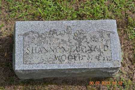 WOOLF, SHANNON RONALD - Branch County, Michigan | SHANNON RONALD WOOLF - Michigan Gravestone Photos