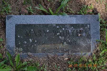 WORTH, MARY - Branch County, Michigan | MARY WORTH - Michigan Gravestone Photos