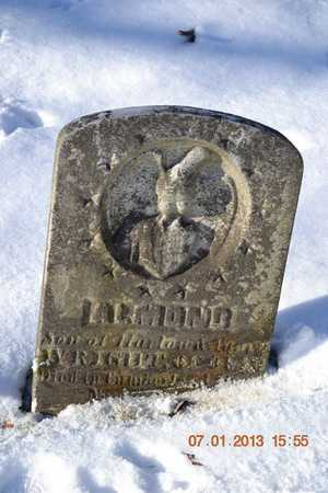 WRIGHT, ALMOND - Branch County, Michigan | ALMOND WRIGHT - Michigan Gravestone Photos