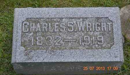 WRIGHT, CHARLES S. - Branch County, Michigan | CHARLES S. WRIGHT - Michigan Gravestone Photos