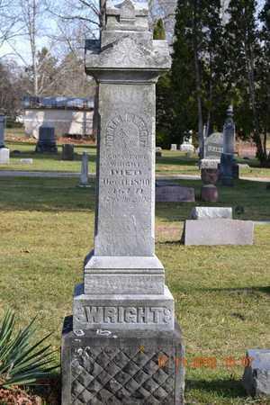 WRIGHT, HOMER W. - Branch County, Michigan   HOMER W. WRIGHT - Michigan Gravestone Photos