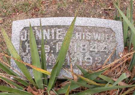 WRIGHT, JENNIE - Branch County, Michigan | JENNIE WRIGHT - Michigan Gravestone Photos