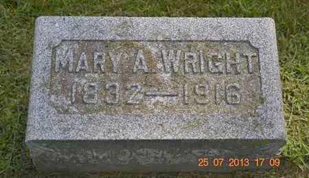 WRIGHT, MARY A. - Branch County, Michigan   MARY A. WRIGHT - Michigan Gravestone Photos