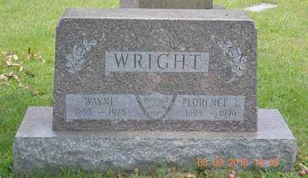 WRIGHT, FLORENCE L. - Branch County, Michigan | FLORENCE L. WRIGHT - Michigan Gravestone Photos