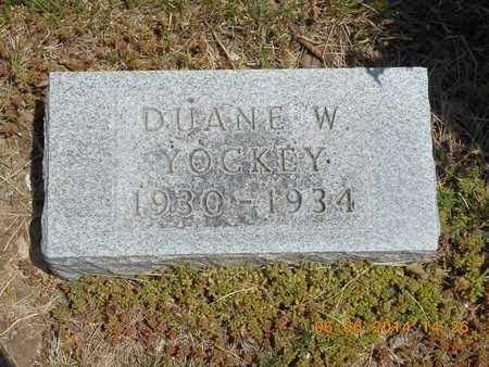 YOCKEY, DUANE W. - Branch County, Michigan   DUANE W. YOCKEY - Michigan Gravestone Photos