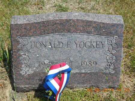YOCKEY, DONALD F. - Branch County, Michigan | DONALD F. YOCKEY - Michigan Gravestone Photos
