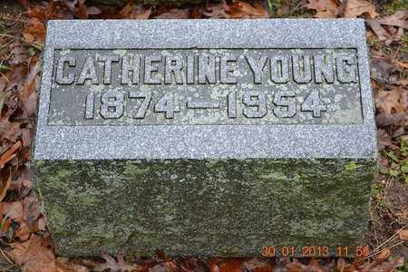 YOUNG, CATHERINE - Branch County, Michigan | CATHERINE YOUNG - Michigan Gravestone Photos