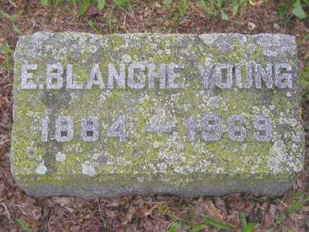 YOUNG, E. BLANCHE - Branch County, Michigan | E. BLANCHE YOUNG - Michigan Gravestone Photos