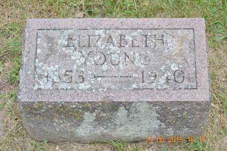 YOUNG, ELIZABETH - Branch County, Michigan | ELIZABETH YOUNG - Michigan Gravestone Photos