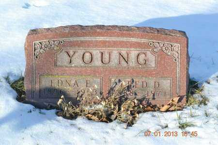 YOUNG, EDNA E. - Branch County, Michigan   EDNA E. YOUNG - Michigan Gravestone Photos