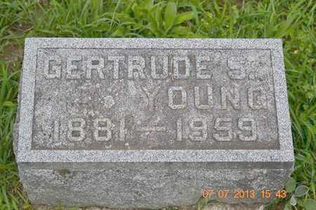YOUNG, GERTRUDE S. - Branch County, Michigan   GERTRUDE S. YOUNG - Michigan Gravestone Photos