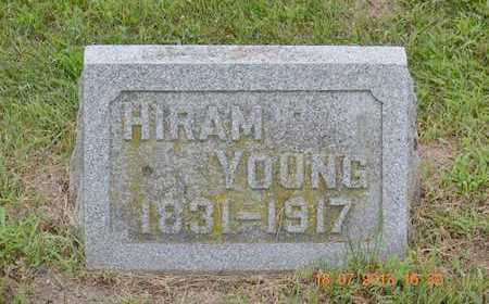 YOUNG, HIRAM - Branch County, Michigan | HIRAM YOUNG - Michigan Gravestone Photos