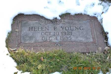 YOUNG, HELEN P. - Branch County, Michigan   HELEN P. YOUNG - Michigan Gravestone Photos