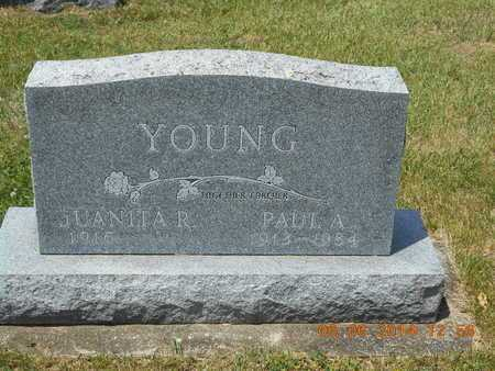 YOUNG, JUANITA R. - Branch County, Michigan | JUANITA R. YOUNG - Michigan Gravestone Photos