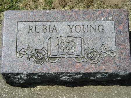 YOUNG, RUBIA - Branch County, Michigan | RUBIA YOUNG - Michigan Gravestone Photos