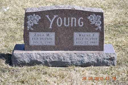 YOUNG, WAYNE F. - Branch County, Michigan | WAYNE F. YOUNG - Michigan Gravestone Photos