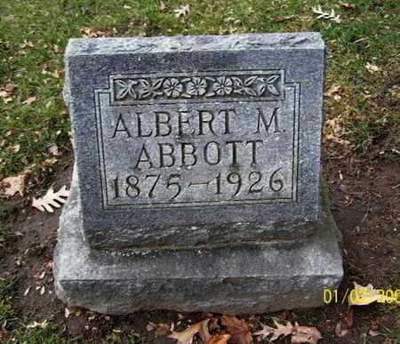 ABBOTT, ALBERT M - Calhoun County, Michigan | ALBERT M ABBOTT - Michigan Gravestone Photos