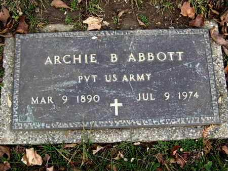 ABBOTT, ARCHIE B - MILITARY MARKER - Calhoun County, Michigan | ARCHIE B - MILITARY MARKER ABBOTT - Michigan Gravestone Photos