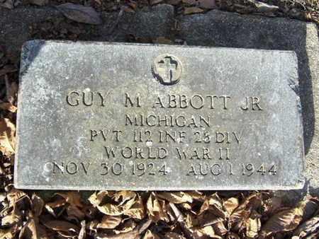 ABBOTT, GUY M. JR. - Calhoun County, Michigan | GUY M. JR. ABBOTT - Michigan Gravestone Photos