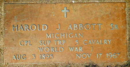 ABBOTT, HAROLD J. SR. - Calhoun County, Michigan   HAROLD J. SR. ABBOTT - Michigan Gravestone Photos