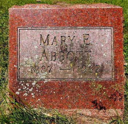ABBOTT, MARY E. - Calhoun County, Michigan | MARY E. ABBOTT - Michigan Gravestone Photos
