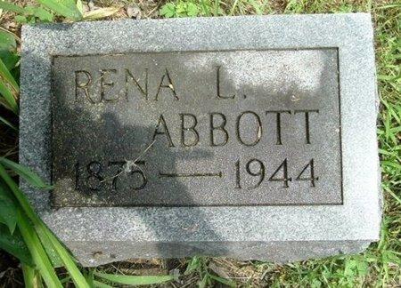 ABBOTT, RENA L - Calhoun County, Michigan | RENA L ABBOTT - Michigan Gravestone Photos