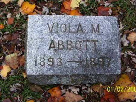ABBOTT, VIOLA M - Calhoun County, Michigan | VIOLA M ABBOTT - Michigan Gravestone Photos