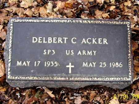 ACKER, DELBERT C - Calhoun County, Michigan | DELBERT C ACKER - Michigan Gravestone Photos