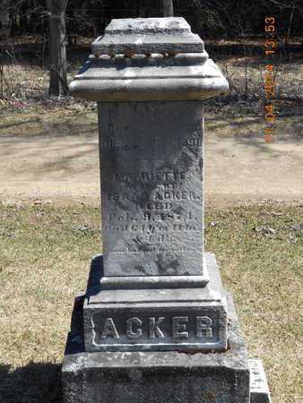 ACKER, ISAAC - Calhoun County, Michigan | ISAAC ACKER - Michigan Gravestone Photos