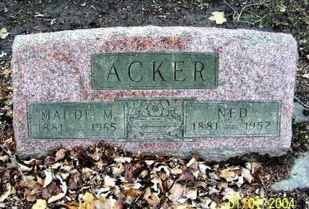 ACKER, MAUDE - Calhoun County, Michigan   MAUDE ACKER - Michigan Gravestone Photos