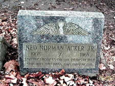 ACKER, NED NORMAN JR. - Calhoun County, Michigan | NED NORMAN JR. ACKER - Michigan Gravestone Photos