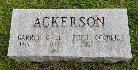 ACKERSON, GARRET G. III - Calhoun County, Michigan | GARRET G. III ACKERSON - Michigan Gravestone Photos
