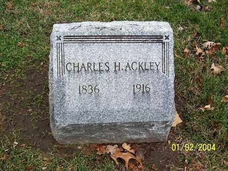 ACKLEY, CHARLES H. - Calhoun County, Michigan | CHARLES H. ACKLEY - Michigan Gravestone Photos