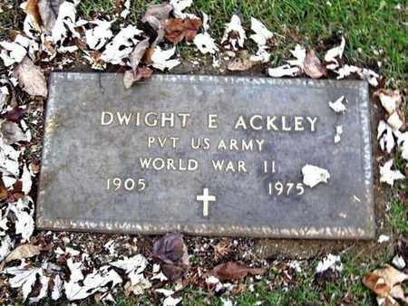ACKLEY, DWIGHT E. - Calhoun County, Michigan | DWIGHT E. ACKLEY - Michigan Gravestone Photos