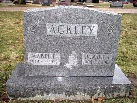 ACKLEY, DONALD A. - Calhoun County, Michigan | DONALD A. ACKLEY - Michigan Gravestone Photos