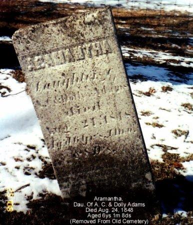 ADAMS, ARAMANTHA - Calhoun County, Michigan | ARAMANTHA ADAMS - Michigan Gravestone Photos