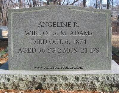 ADAMS, ANGELINE R. - Calhoun County, Michigan | ANGELINE R. ADAMS - Michigan Gravestone Photos