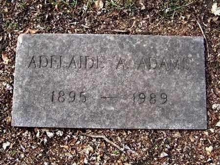 ADAMS, ADELAIDE A - Calhoun County, Michigan   ADELAIDE A ADAMS - Michigan Gravestone Photos